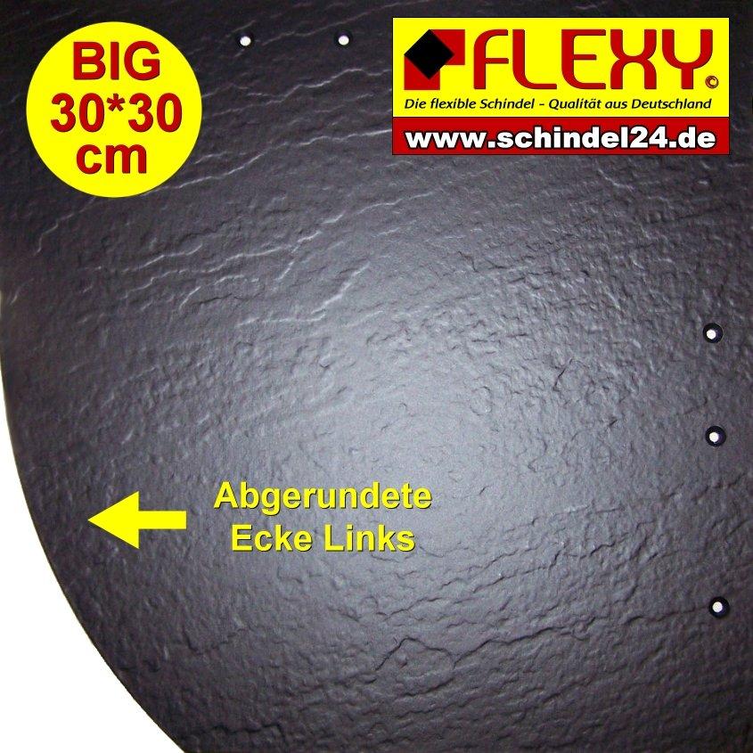 kunststoff Schindeln 1 Flexy Big Schindel Rechts Braun Matt Glatt Baustoffe & Holz